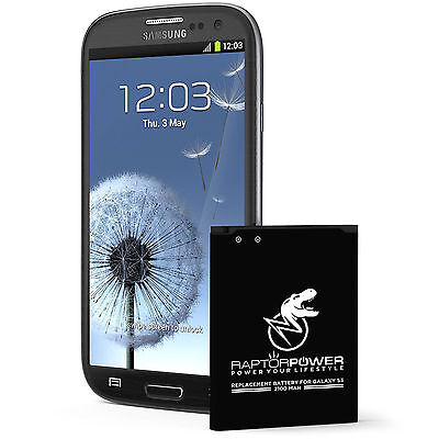 RaptorPower Replacement Battery for Samsung Galaxy S3 i9300 EB-L1G6LLA 2100mAh