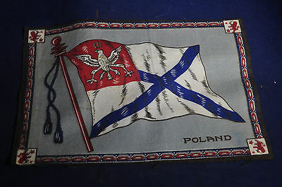 11 x 7 1/4 Inches LARGE Poland Flag Flannel