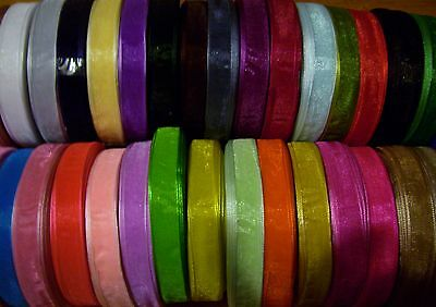 Woven Edge Organza Ribbon 3mm 6mm 10mm 19mm 25mm 38mm All Colours