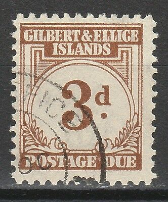 Gilbert & Ellice 1940 Postage Due 3D Used