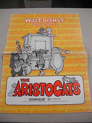 """Large 1970 Film Promotional Campaign Book For Walt Disney`s """"the Aristocats""""!"""