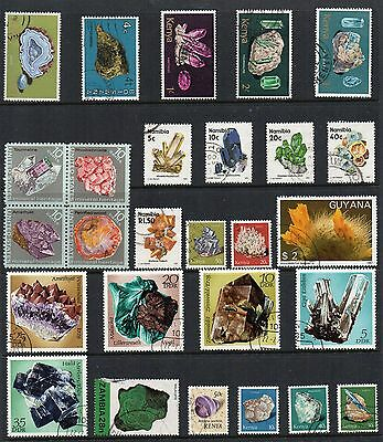 GEMS MINRALS  Thematic STAMP Collection MINT USED Ref:TS95