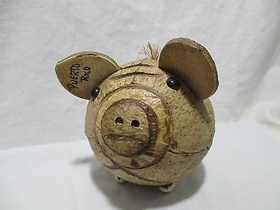 Coconut Shell Piggy Bank-Puerto Rico