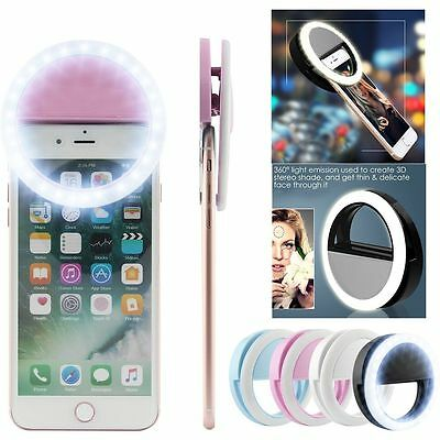 Portable Selfie LED Ring Fill Light Camera Photography For iPhone Samsung Phone