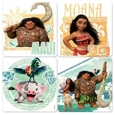 "30 Moana Stickers, Assorted, 2.5""x2.5"" each, Party Favors"