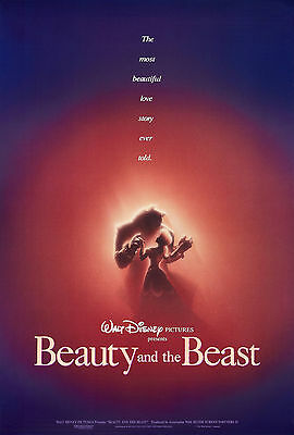 Beauty And The Beast Laminated Mini A4 Movie Poster Disney