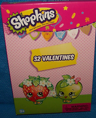 Valentines Day Cards (Box of 32) Shopkins