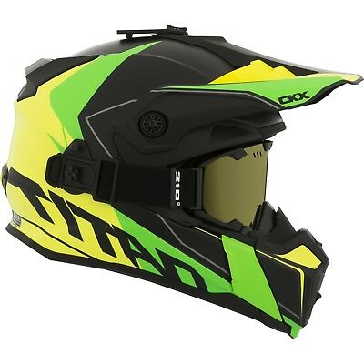 CKX 2017 – Titan Cliff Mat Yellow/Green Modular Snow Helmet - Large