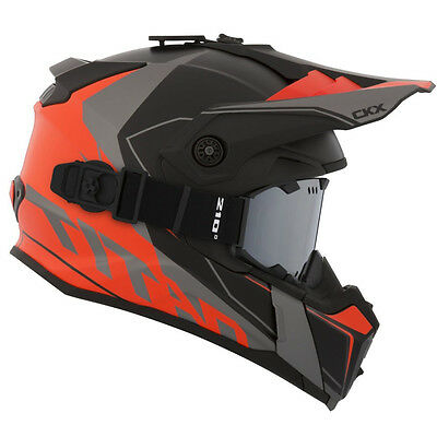 CKX 2017 – Titan Cliff Mat Orange Modular Snow Helmet - Large