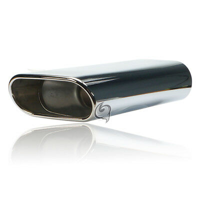 End pipe Muffler 3x6 1/2in Stainless steel 12 5/8in Length rejuvenated 2 1/2in+