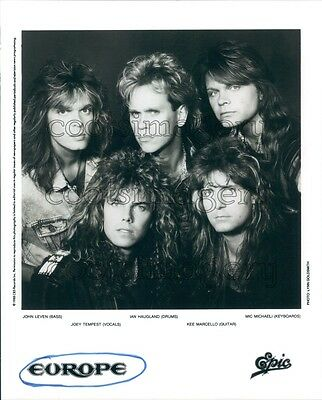 1988 1980s Rock Band Europe Joey Tempest Final Countdown Press Photo