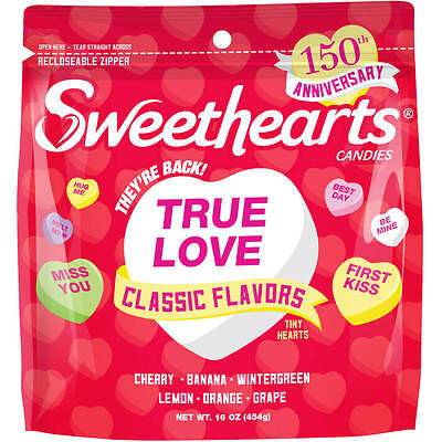 SWEETHEARTS 16 oz Bag CLASSIC FLAVORS Tiny Hearts VALENTINES DAY Candy Exp 11/18