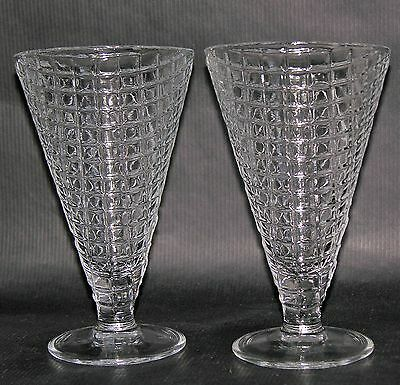 Parfait Sundae Glasses Set of Two Waffle Cone Design Made in Italy