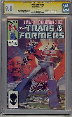Transformers #1 Cgc 9.8 Ss White Pages Signed Stan Lee Marvel Rare In High Grade