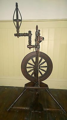 Fascinating & Rare Georgian Authentic 18th C Spinning Wheel Made by John Dunn