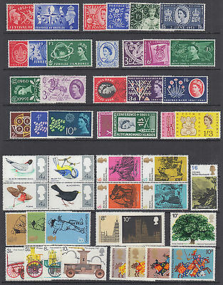 Great Britain Sc 290//761 MLH. 1951-1975 issues, 24 cplt QEII sets, F-VF