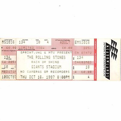 ROLLING STONES & FOO FIGHTERS Concert Ticket Stub 10/16/97 EAST RUTHERFORD NJ
