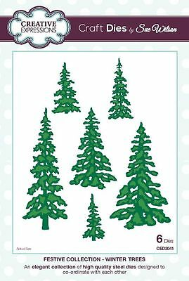 sue wilson festive collection - winter trees - ced3041