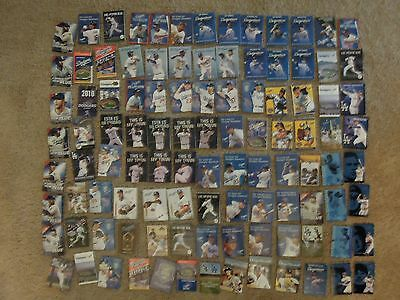 100 PC Large Huge LOT Los Angeles Dodgers Baseball Major League Schedules