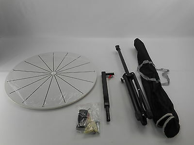 WinSpin 24-Inch 15 Slot Dry Erase Prize Wheel with Tripod Floor Stand - White