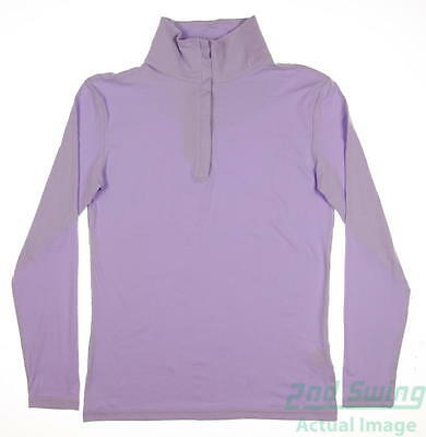 New Womens Straight Down Golf 1/4 Zip Pullover X-Large XL Purple MSRP $60
