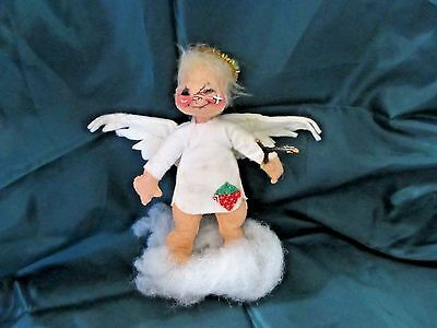 Annalee Angel Standing on a Cloud and Holding a Sling Shot~Very Good Condition
