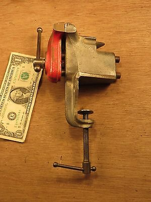 """Vintage MF. Co. Clamp On Bench Vise No. 1700 - w/ Anvil - 2 1/2"""" Jaws - USA Tool"""