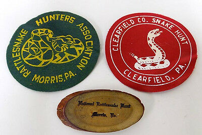 Rattlesnake Hunt Patches & Wood Pin Morris & Clearfield Pennsylvania