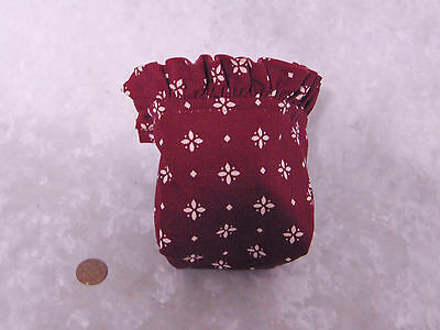 """Longaberger Traditional Red BASKET LINER 4.5"""" Tall Fabric Insert Small Burgundy!"""