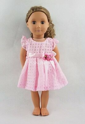 For 18''American Girl Doll Clothes Littice Pattern Skirt With Panties Dress Gift