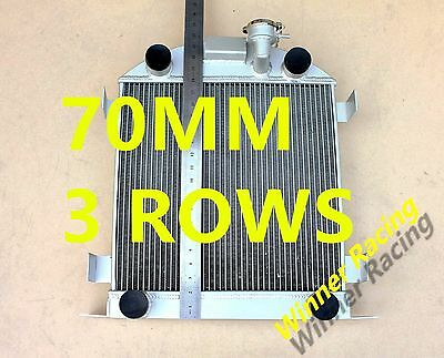 "Fit Ford Lowboy chopped w/flathead V8 engine 32-39 21.5"" high aluminum radiator"