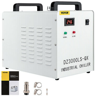 220V CW3000 Thermolysis Industrial Water Chiller for 60/80W CO2 Glass Tube Safe