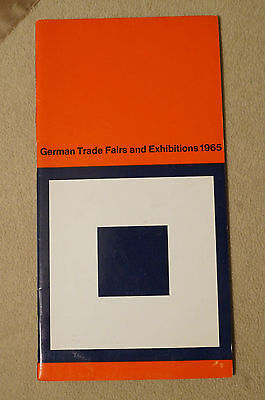 German Trade Fairs and Exhibitions - 1965 - Brochure