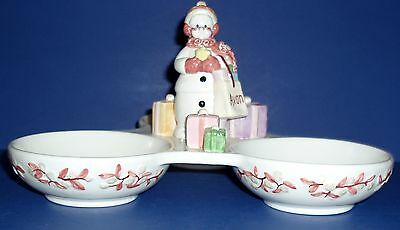 Snowlady By Avon Three Sectional Dish For Serving