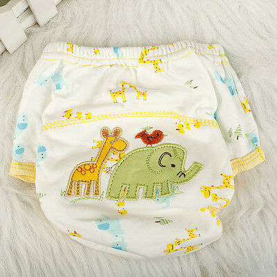 Baby/Infant Cloth Diaper Nappy Cover Pants Waterproof Elephant-Print Breathable;