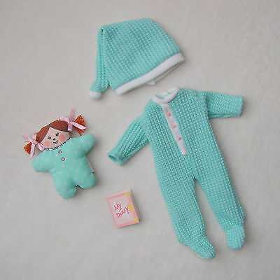 """Madeline Doll 8"""" Aqua PJs Pajamas Outfit Clothing Set Excellent Condition!"""