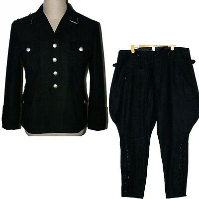 WW2 WWII German Elite M32 Officer Wool Uniform Tunic & Breeches 2XL Collectable