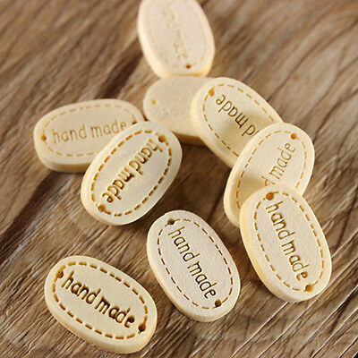 High Quality 100pcs 19MM Handmade Wood Buttons 2Holes Sewing Crafts Accessories