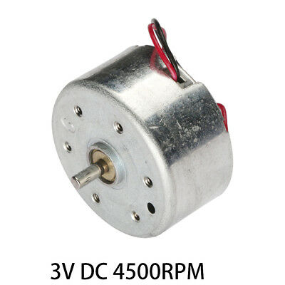 3V DC 4500RPM High-power Torque Magnetic Mini Electric Motor 2 Terminals Connect