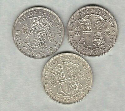 1936 & 1944 George V & Vi Half Crowns In Extremely Fine Condition