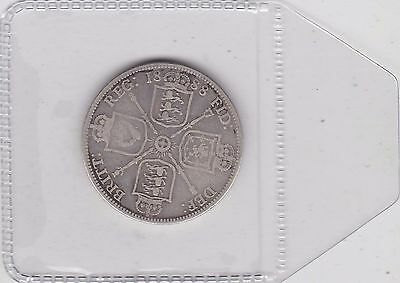 1888 Victorian Silver Florin In Used Fine Or Slightly Better Condition
