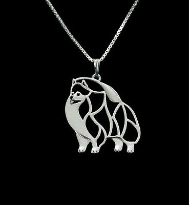 Pomeranian 3D pendant necklace dog collectible N120