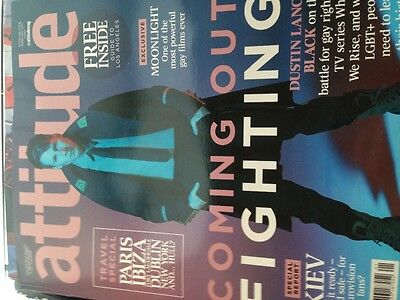 Attitude Magazine Feb 2017 Dustin Lance Black Coming Out Fighting + Made in LA