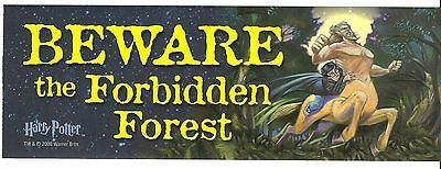 + BEWARE The FORBIDDEN FOREST 3x9 Door Mirror RV BUMPER STICKER Window Locker