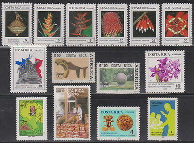 Costa Rica Mint Never Hinged Complete Year Unit for 1989 Sc 410-422 and RA105