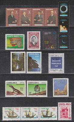 Costa Rica Mint NH Complete Year Unit for 1992 Sc 441-450, C923-924 & RA111