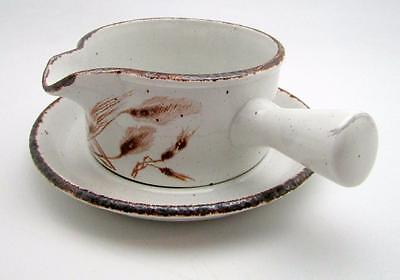 Midwinter Stonehenge Wild Oats Gravy Boat w Side Handle and Underplate