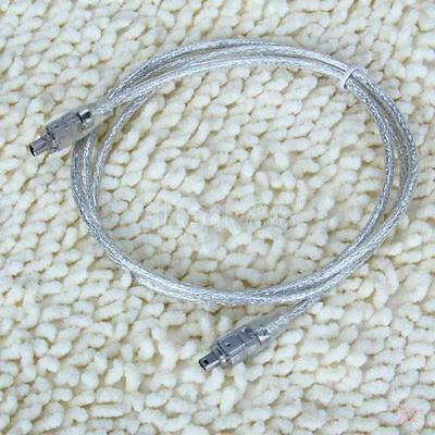 2x 4ft IEEE 1394 FireWire iLink 4 to 4pin Cable Lead for Sony JVC Mini DV