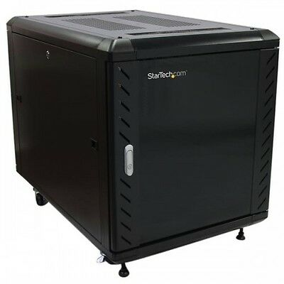 NEW! Startech.Com 12U 36In Knock-Down Server Rack Cabinet With Casters RK1236BKF