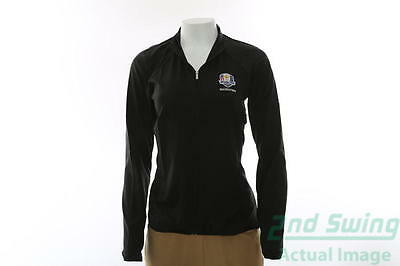 New Womens Adidas 2016 Ryder Cup Essential FZ Wind Jacket XXLarge Black MSRP $70